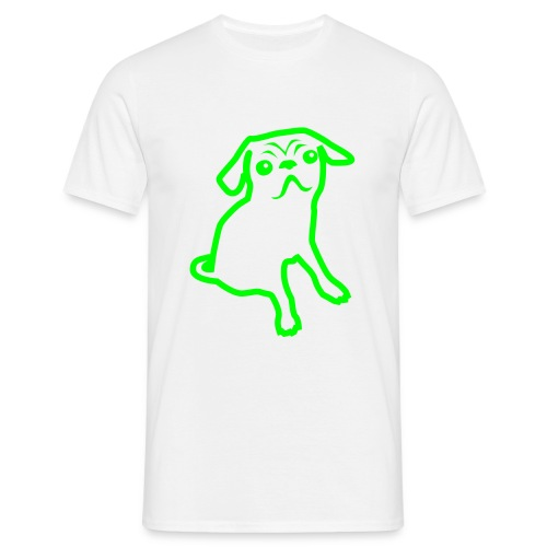 Pug Neon Green Mens Tee - Men's T-Shirt