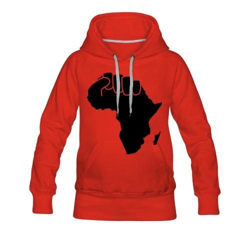 Sweat Africa Power Femme  - Sweat-shirt à capuche Premium pour femmes