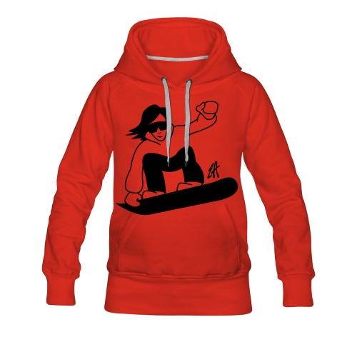 Sweat Snow MC Femme - Sweat-shirt à capuche Premium pour femmes