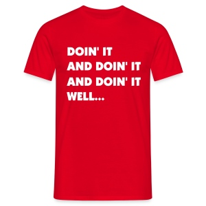 Doin' it Tee RED - Men's T-Shirt