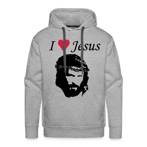 I love jesus - Hettegenser - Premium hettegenser for menn