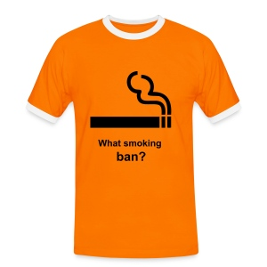 Smoking ban - Men's Ringer Shirt
