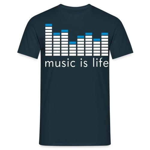 Music is Life   Rush - Mannen T-shirt