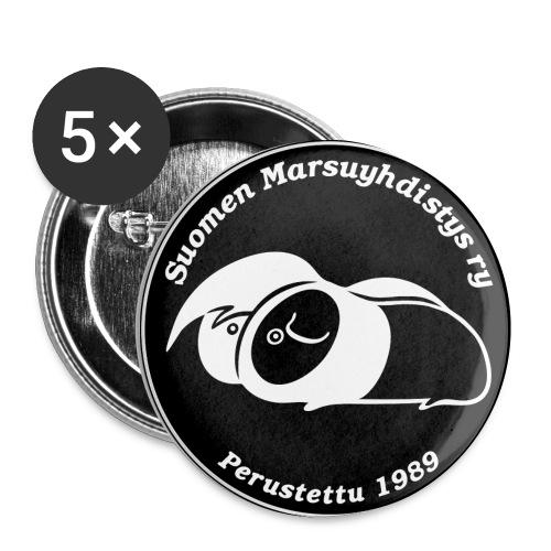 Rintamerkki, musta - Rintamerkit pienet 25 mm