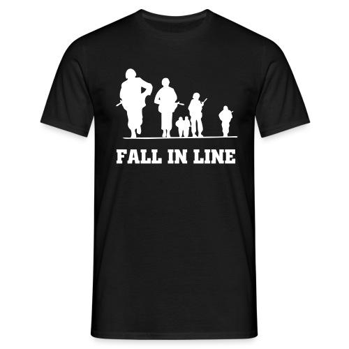 Onslaught Fall in Line B/W  - Men's T-Shirt