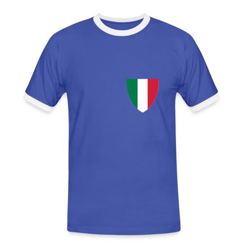 Koszulka Italy - Koszulka męska z kontrastowymi wstawkami