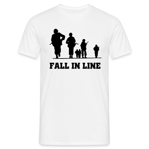 Onslaught Fall in Line W/B  - Men's T-Shirt