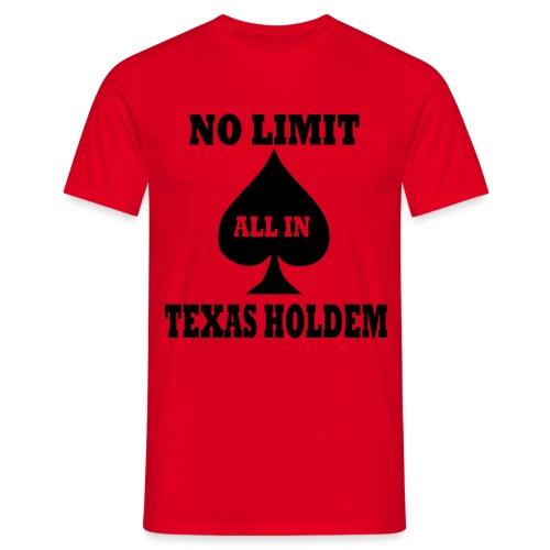 Texas Hold'em - T-skjorte for menn