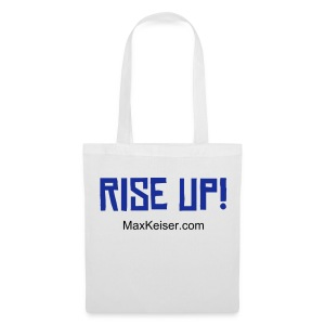 The MaxKeiser.com Rise Up (text blue) Tote - Tote Bag