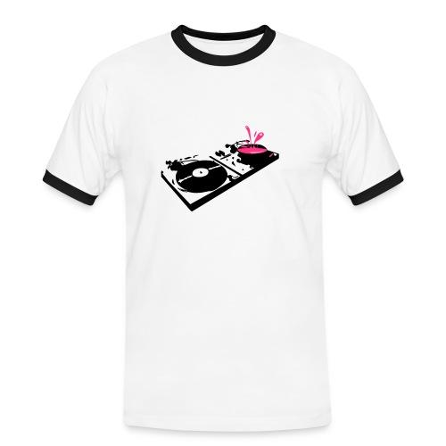 dj Broadcast - Koszulka męska z kontrastowymi wstawkami