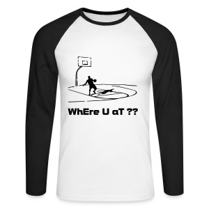 Where U At - long sleeve - Men's Long Sleeve Baseball T-Shirt