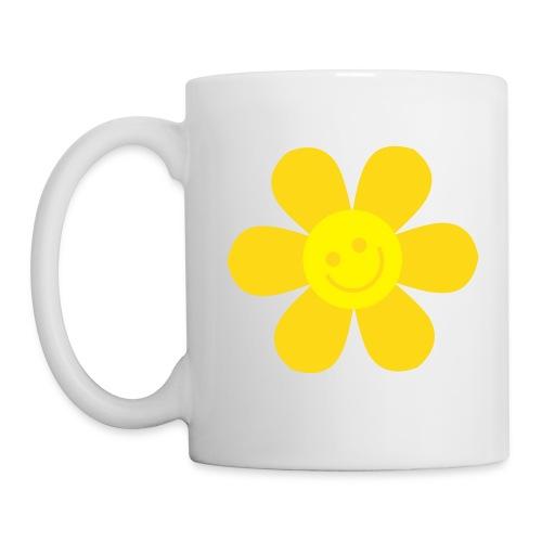 Tasse Ecolo jaune - Mug blanc