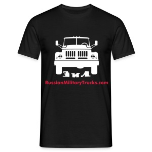ZIL Classic T - White & Red Logo - Front Print - Men's T-Shirt