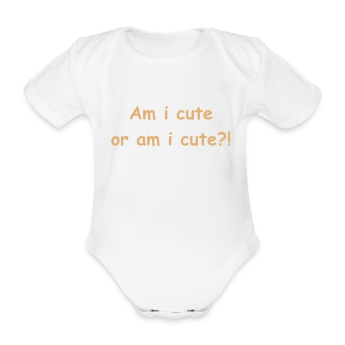 Cute - Vest - Organic Short-sleeved Baby Bodysuit
