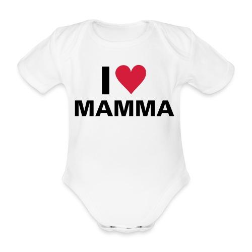 I love mom - body - Økologisk kortermet baby-body