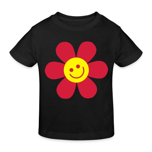 Happy flower - Kinderen Bio-T-shirt