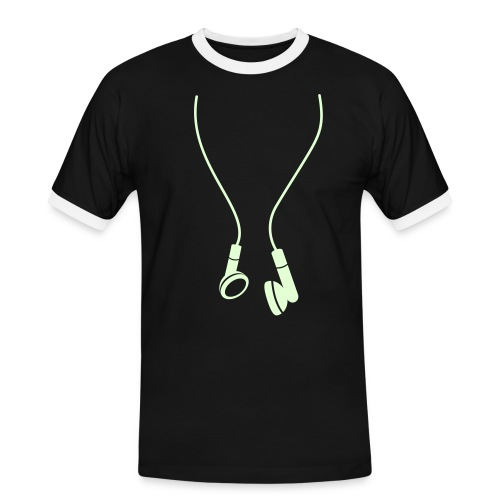 headphone GLOW IN DARK - Men's Ringer Shirt