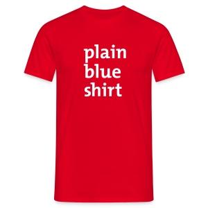 Mannen: Blue shirt - Mannen T-shirt