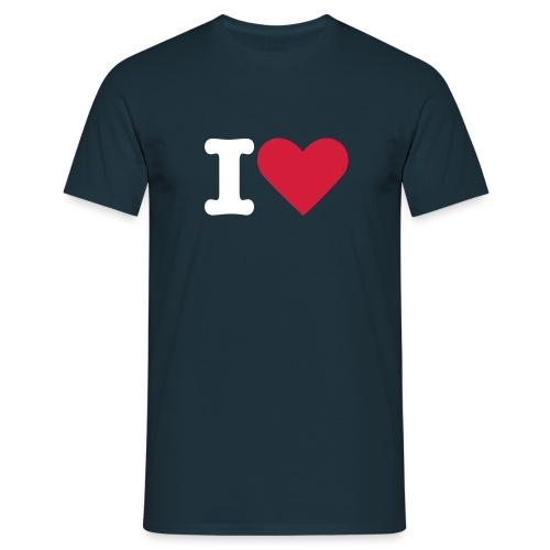 Mannen: I love - Mannen T-shirt