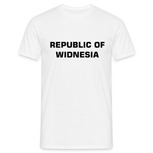 Republic of Widnesia - black - Men's T-Shirt