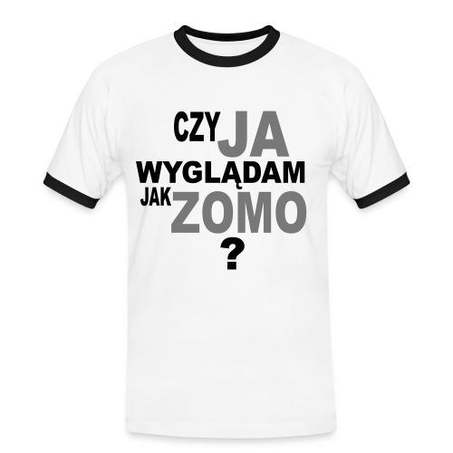 Zomo - Koszulka męska z kontrastowymi wstawkami