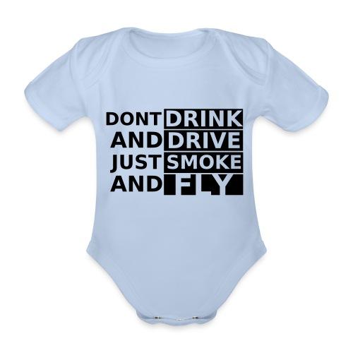 Cash swimming suit - Organic Short-sleeved Baby Bodysuit