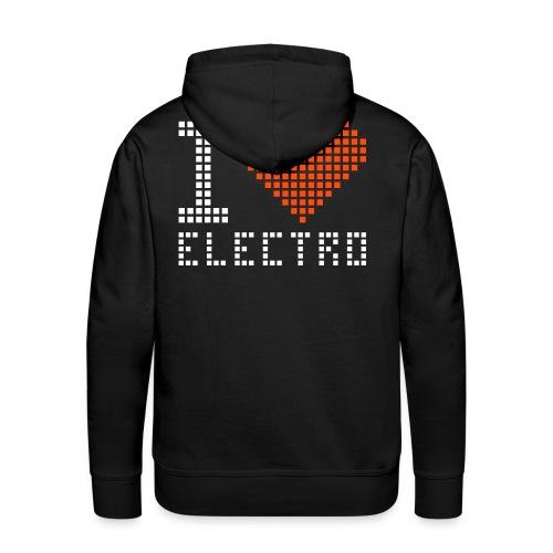 electro noir - Sweat-shirt à capuche Premium pour hommes