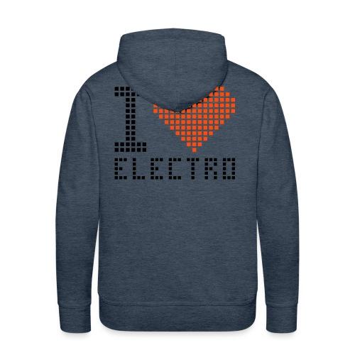 electro vert - Sweat-shirt à capuche Premium pour hommes