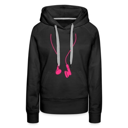 sweat noir et rose  - Sweat-shirt à capuche Premium pour femmes