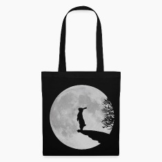 Black Wolfinchen rabbit bunny bunnies hare jackass moon werewolf fullmoon ledge T-Shirts Bags & backpacks