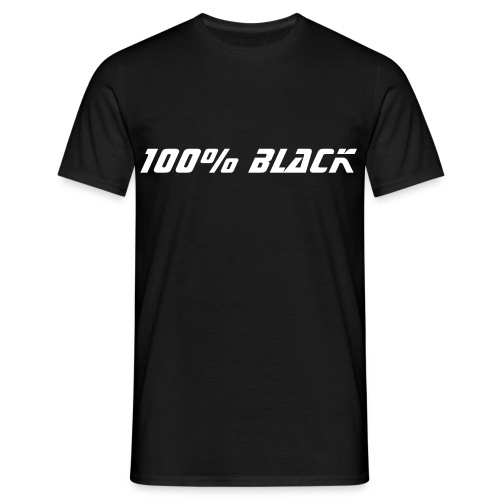 100% black - Men's T-Shirt