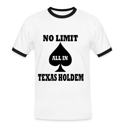 Texas Hold'em - Maglietta Contrast da uomo