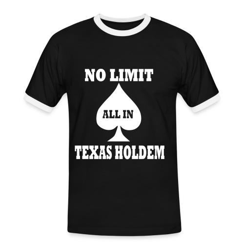 Texas Hold'em nera - Maglietta Contrast da uomo