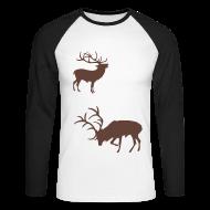 Langarmshirts ~ Männer Baseballshirt langarm ~ Zwei Hirsche