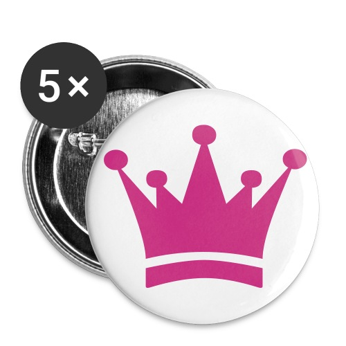 I am the princess - Stor pin 56 mm (5-er pakke)
