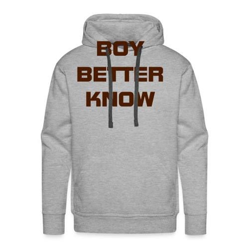 Boy Better Know (Bigger Logo) Hood - Men's Premium Hoodie