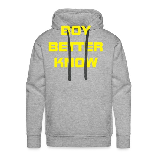 Boy Better Know (Bigger Logo) Hood Yellow - Men's Premium Hoodie