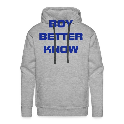 Boy Better Know (Bigger Logo) Hood Dark Blue - Men's Premium Hoodie