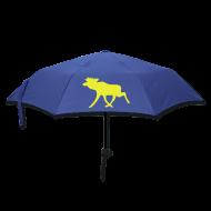 Regenschirme ~ Regenschirm (klein) ~ Schweden-Schirm blau-gelb, mit Schwedenelch.