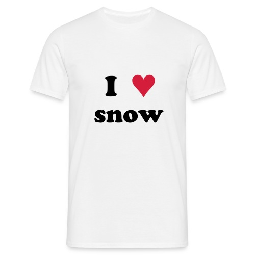 I Love snow Shirt - Männer T-Shirt