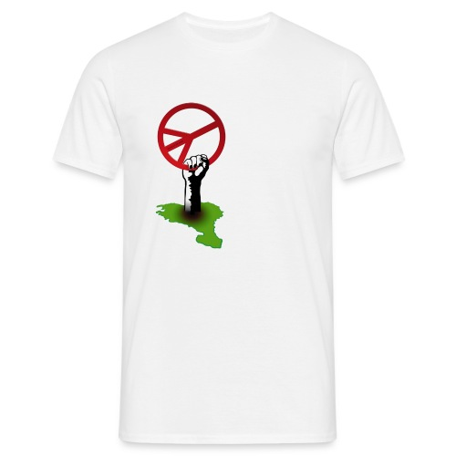 T-shirt main peace blanc - T-shirt Homme