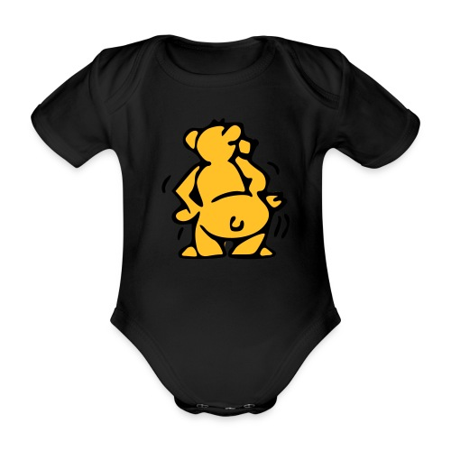 In your face - Organic Short-sleeved Baby Bodysuit