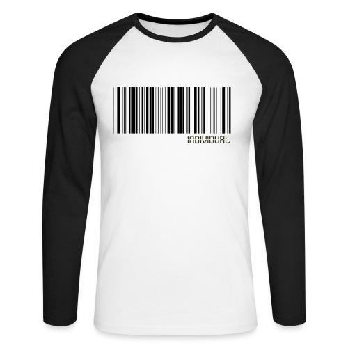 Barcode - individual - Men's Long Sleeve Baseball T-Shirt