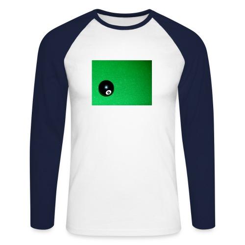 Pool ball - Men's Long Sleeve Baseball T-Shirt