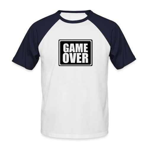 BBGameover - Mannen baseballshirt korte mouw