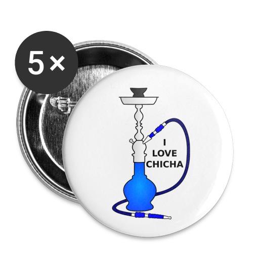 Badge 25mm I Love Chicha Bleu - Badge petit 25 mm