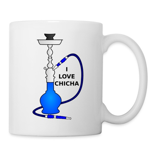 Tasse I Love Chicha Bleu - Mug blanc