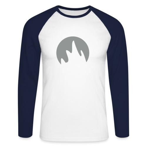 Sweatshirt mit Flammenmotiv - Männer Baseballshirt langarm