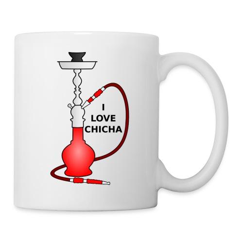 Tasse I Love Chicha Rouge - Mug blanc
