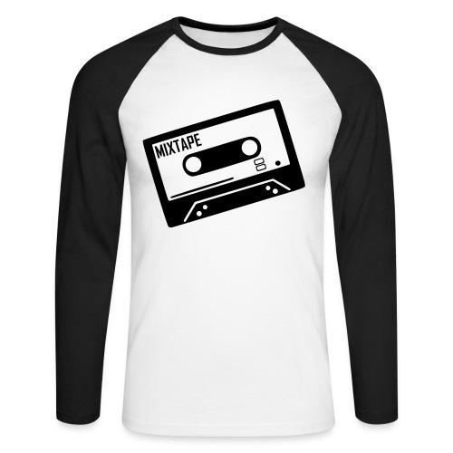 T-shirt manches longues K7 noir et blanc - T-shirt baseball manches longues Homme